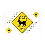 Cat X-ing (B) 38.5 x 24.5 Wall Peel