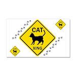 Cat X-ing (B) Car Magnet 20 x 12