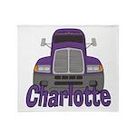 Trucker Charlotte Throw Blanket