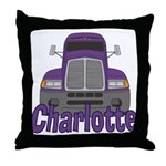 Trucker Charlotte Throw Pillow