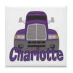 Trucker Charlotte Tile Coaster