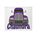 Trucker Chaundra Throw Blanket