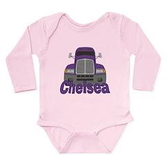 Trucker Chelsea Long Sleeve Infant Bodysuit