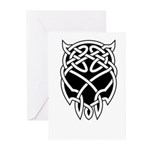 Black Skull Greeting Cards (Pk of 10)