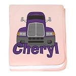Trucker Cheryl baby blanket