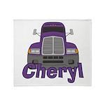 Trucker Cheryl Throw Blanket