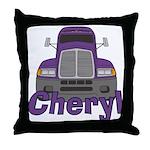 Trucker Cheryl Throw Pillow
