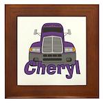 Trucker Cheryl Framed Tile