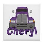 Trucker Cheryl Tile Coaster