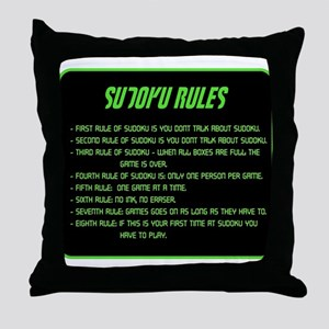 Sudoku Rules Throw Pillow