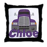 Trucker Chloe Throw Pillow