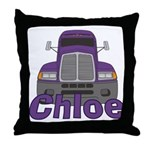Trucker Chloe Throw Pillow