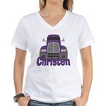Trucker Christen Women's V-Neck T-Shirt