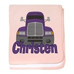 Trucker Christen baby blanket