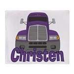 Trucker Christen Throw Blanket