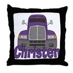 Trucker Christen Throw Pillow