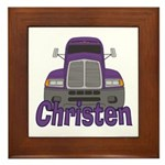 Trucker Christen Framed Tile