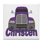 Trucker Christen Tile Coaster