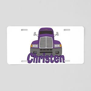 Trucker Christen Aluminum License Plate