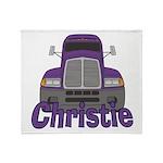 Trucker Christie Throw Blanket