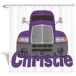Trucker Christie Shower Curtain