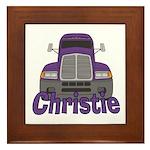 Trucker Christie Framed Tile