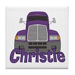 Trucker Christie Tile Coaster