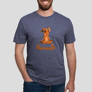 Namaste Yoga Dog Mens Tri-blend T-Shirt