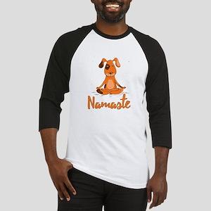 Namaste Yoga Dog Baseball Jersey