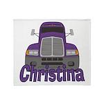 Trucker Christina Throw Blanket