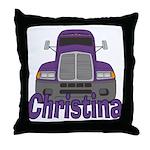 Trucker Christina Throw Pillow