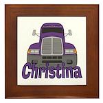 Trucker Christina Framed Tile