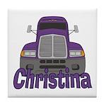 Trucker Christina Tile Coaster