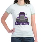 Trucker Christine Jr. Ringer T-Shirt