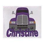 Trucker Christine Throw Blanket