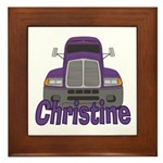 Trucker Christine Framed Tile