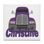Trucker Christine Tile Coaster