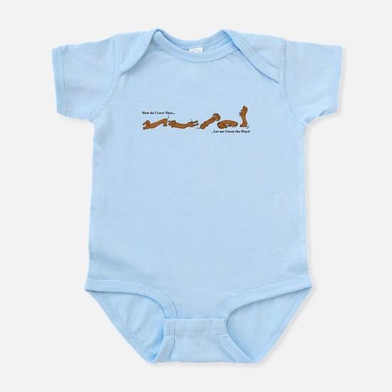 Dachshund - How do I love Thee Infant Bodysuit