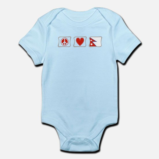 Peace, Love and Nepal Infant Bodysuit