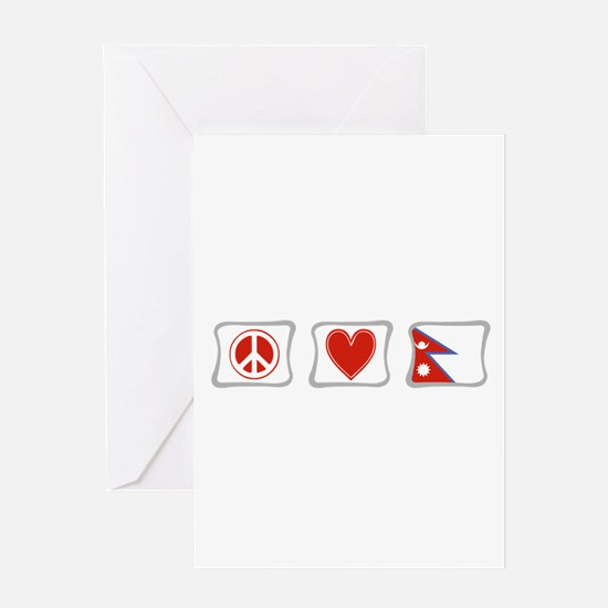 Peace, Love and Nepal Greeting Card
