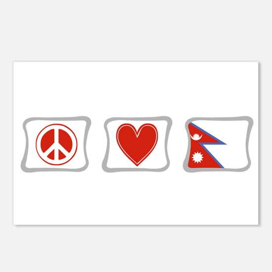 Peace, Love and Nepal Postcards (Package of 8)