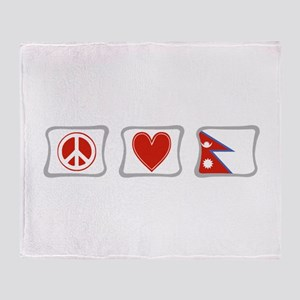 Peace, Love and Nepal Throw Blanket
