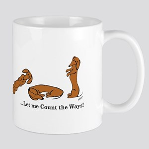 Dachshund - How do I love Thee Mug