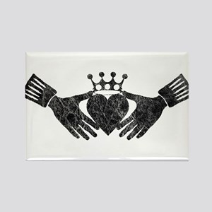grey claddagh Rectangle Magnet