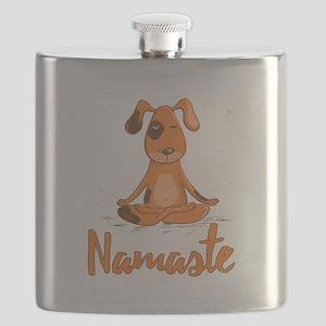 Namaste Yoga Dog Flask