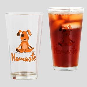 Namaste Yoga Dog Drinking Glass