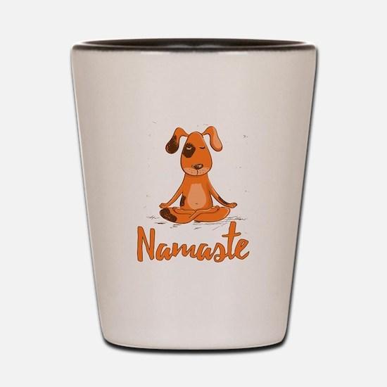 Namaste Yoga Dog Shot Glass