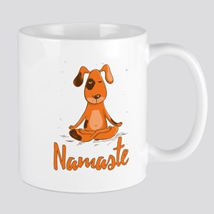 Namaste Yoga Dog Mugs