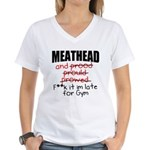 Meathead and prood Women's V-Neck T-Shirt