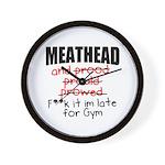 Meathead and prood Wall Clock
